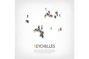 people map country Seychelles vector