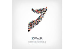 people map country Somalia vector