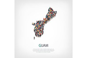 people map country Guam vector