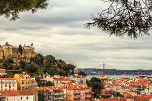 Lisbon fortress of Saint George view