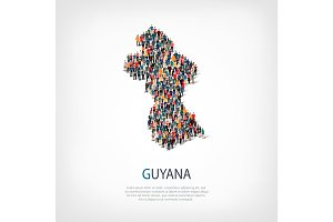 people map country Guyana vector