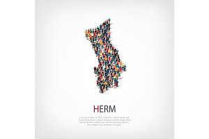 people map country Herm vector