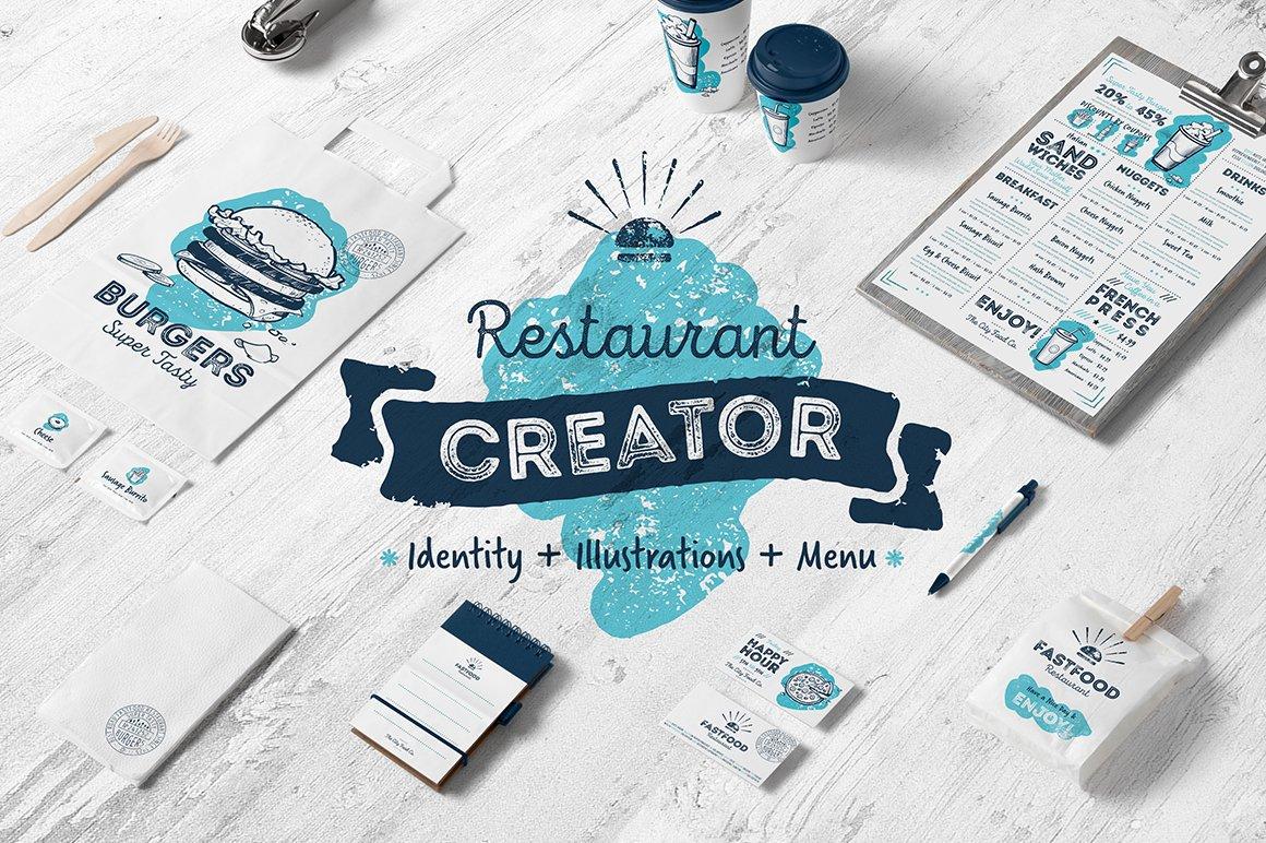 Café and restaurant identity creator ~ Illustrations ~ Creative Market