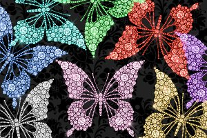 Diamond Butterfly Clipart