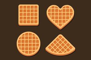 Belgium Waffles Icon Set