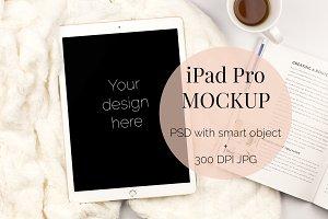 IPad Pro Feminine Mockup (PSD + JPG)