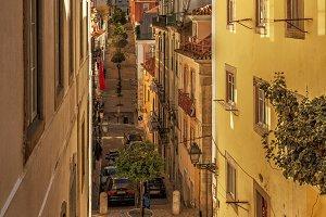 Narrow street of Lisbon