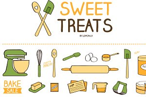 Sweet Treats Baking & Kitchen Icons