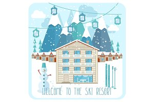 Welcome to the ski resort banner