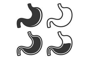 Stomach Icon Set