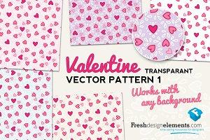 Valentine Transparant Vector Pattern