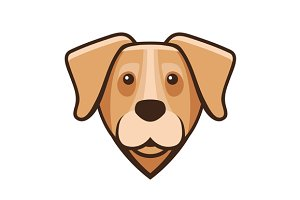 Labrador Retriever Dog Head Icon
