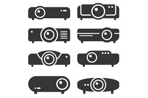 Projector Icon Set