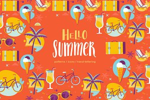 Hello Summer - icons and patterns