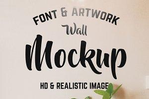 Logo/Text Wall Interior Mockup