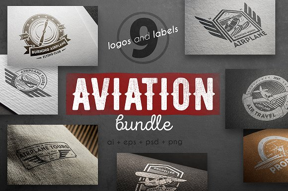 Aviation logo kit