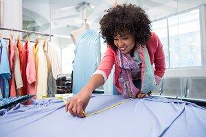 Female fashion designer at work