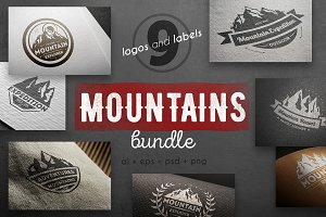 Mountains logo kit