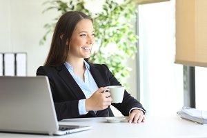 executive drinking coffee