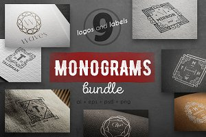 Monograms vintage kit