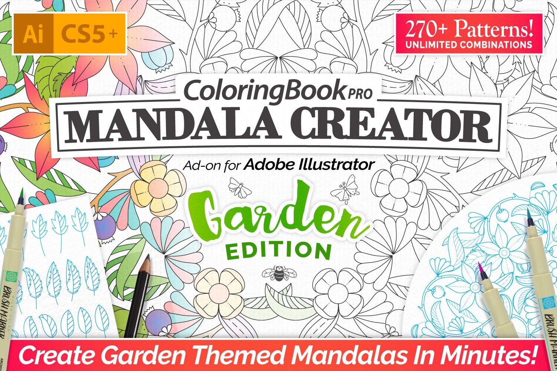 Coloring Book Pro - Garden Edition ~ Illustrator Add-Ons ~ Creative ...