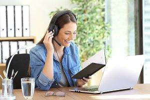 Freelance operator talking