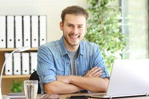freelance man posing