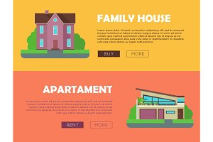 Set of Real Estate Vector Web Banners.