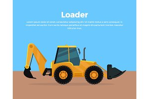 Loader Banner Flat Design Vector Illustration