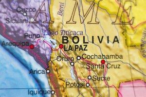 Bolivia country map .