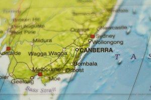 Australia country map .
