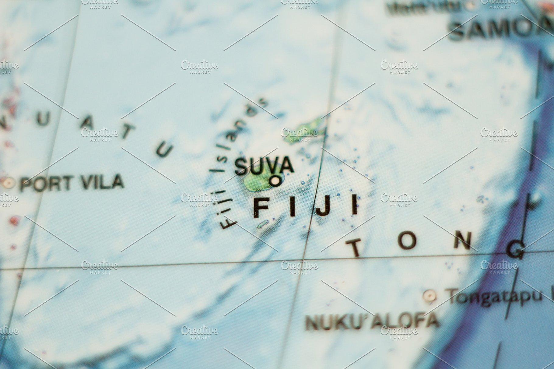 Fiji country map .