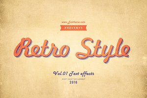 Retro Style Text Effects Vol.1