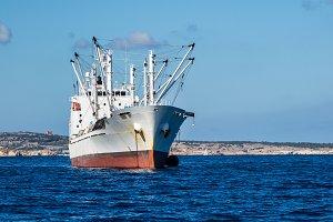 Industrial fishing ship