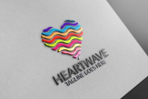 Waving Heart Logo