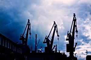 Oil cranes.