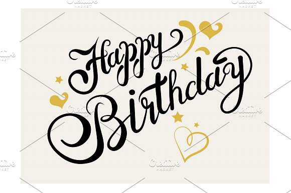 happy birthday lettering script