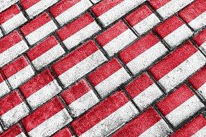 indonesia Grunge Flag Pattern