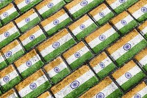 India Grunge Flag Pattern