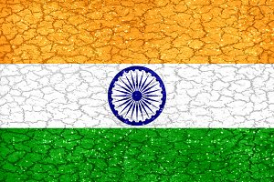 Indian Grunge Flag