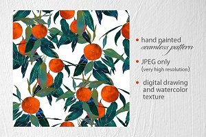 tangerine seamless pattern