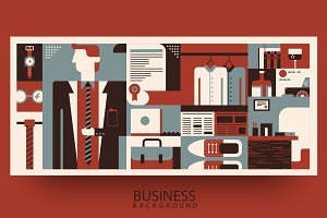Business man background