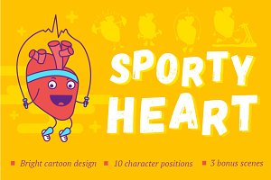 Funny sporty heart