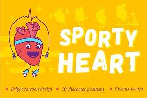 Funny sporty heart