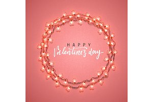 Happy Valentines Day. lettering Greeting Cards Inscription handmade.