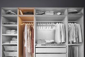 Wardrobe with Clothes part B
