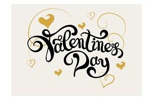 Valentine. Lettering Design