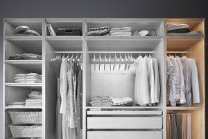 Wardrobe with Clothes part D