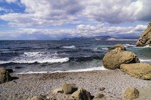 Seascape in Crimea.