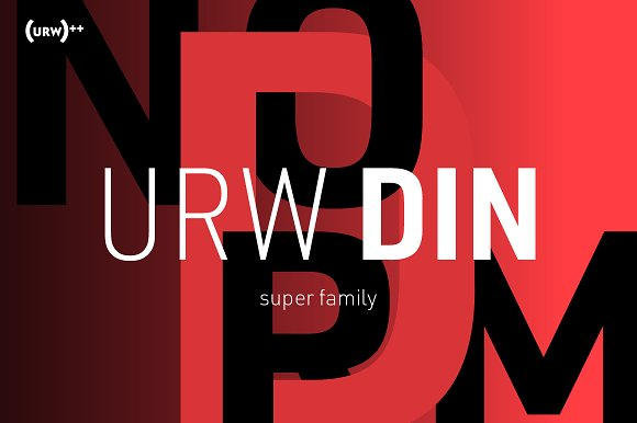 URW DIN Semi-Condensed Pack